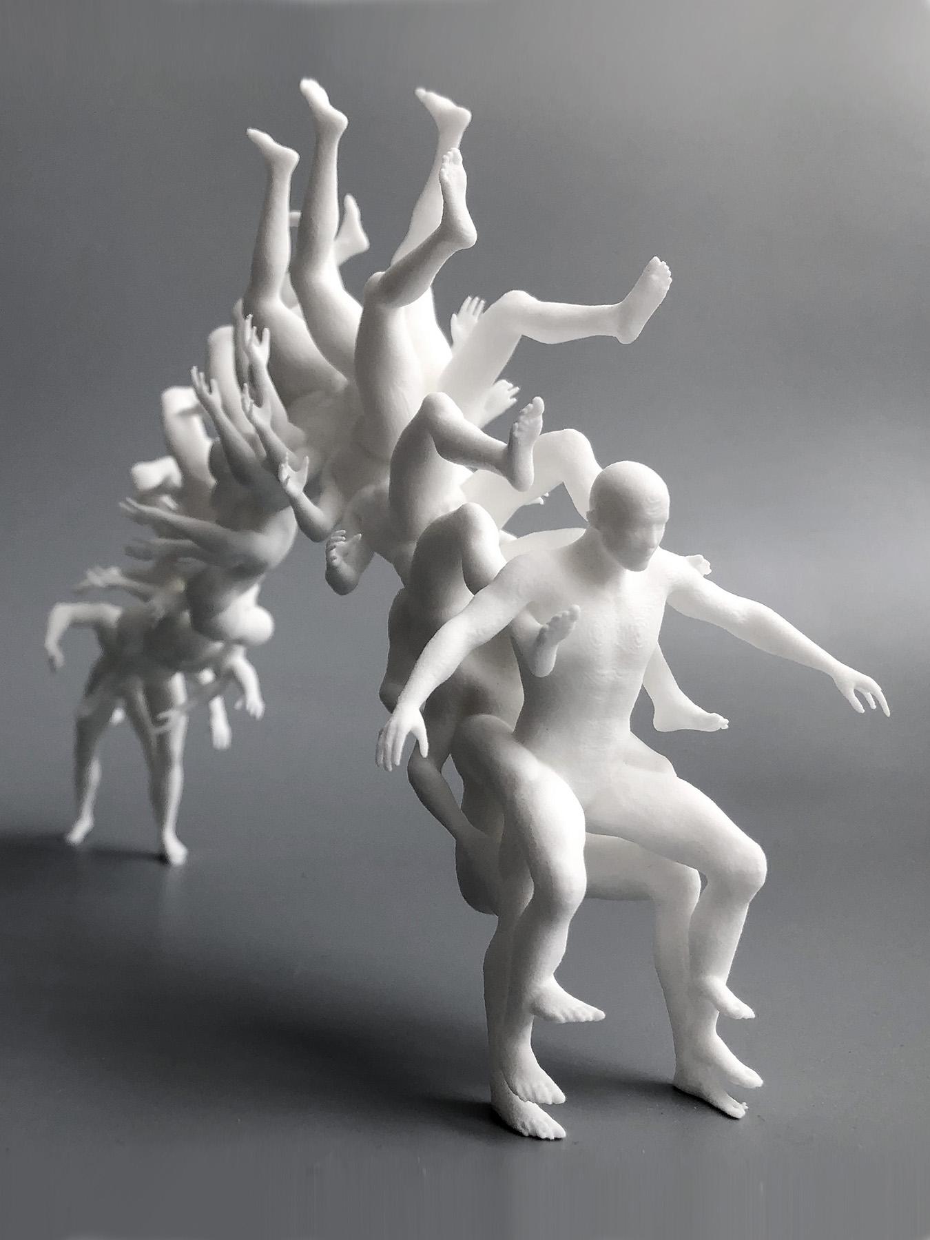 Socha Antona Srholca 3D tlač PA12 tvaroch