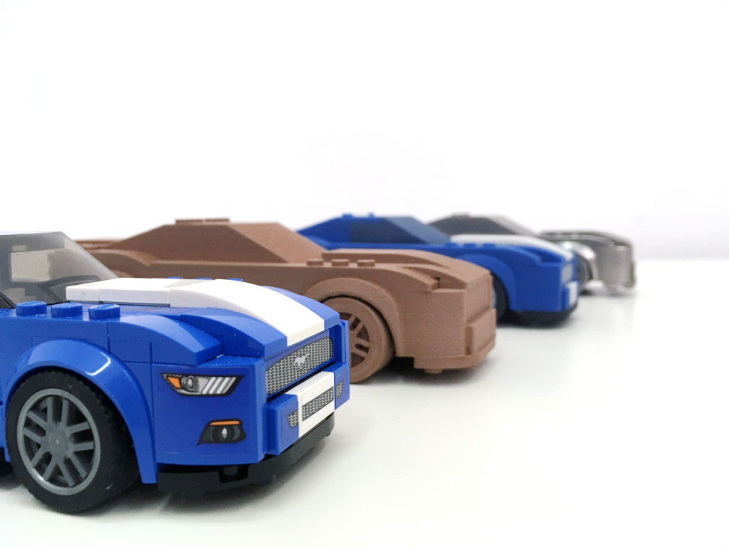 Mustang Shelby 3D tlac kov drevo 3D printing metal