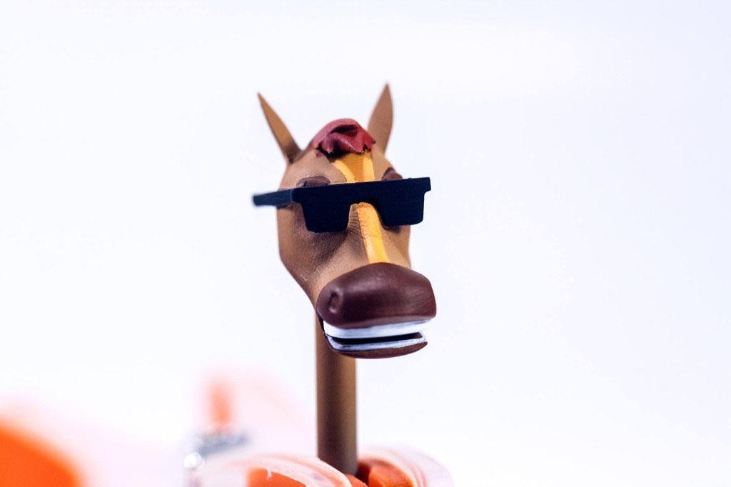 3d tlac, lego hlava mister horse